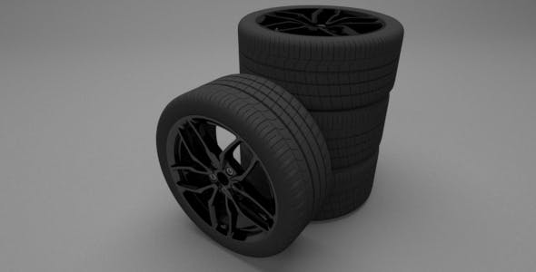 Forged Aluminium Mono-Block Wheels - 3DOcean Item for Sale