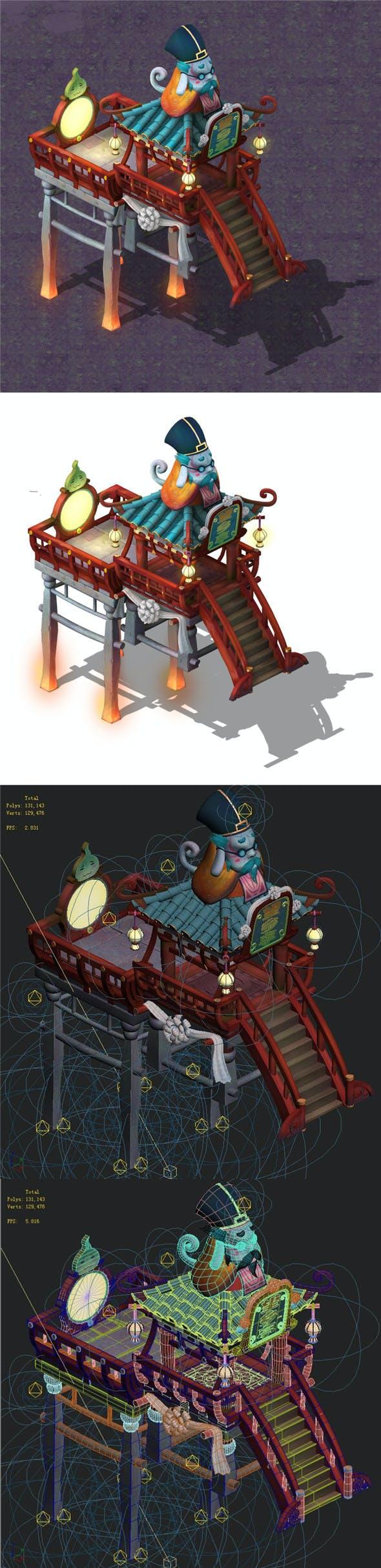 Cartoon hell - Look rural pavilion - 3DOcean Item for Sale