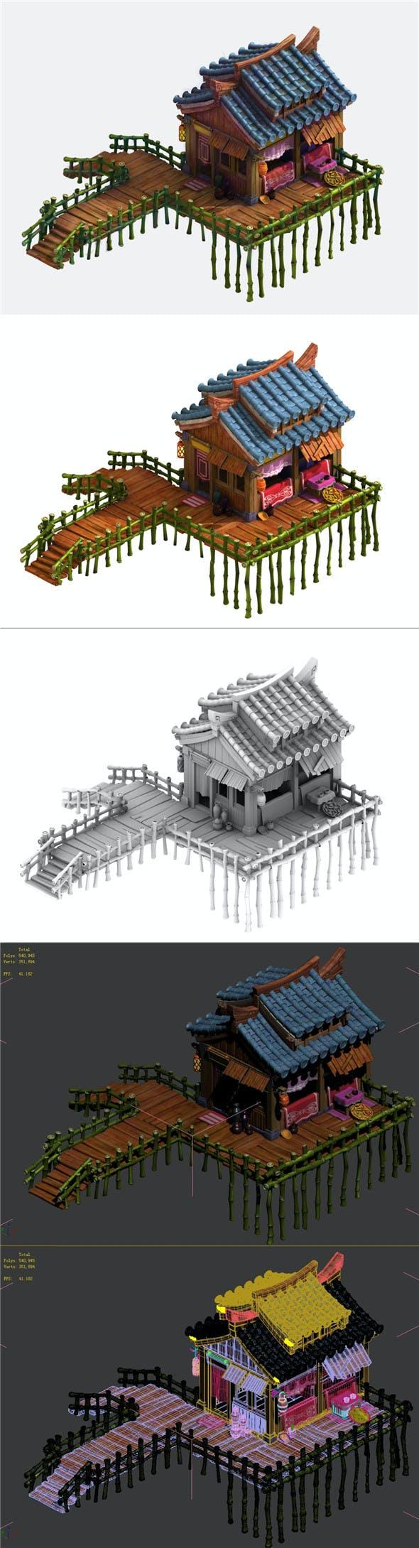 Cartoon - house 01 - 3DOcean Item for Sale