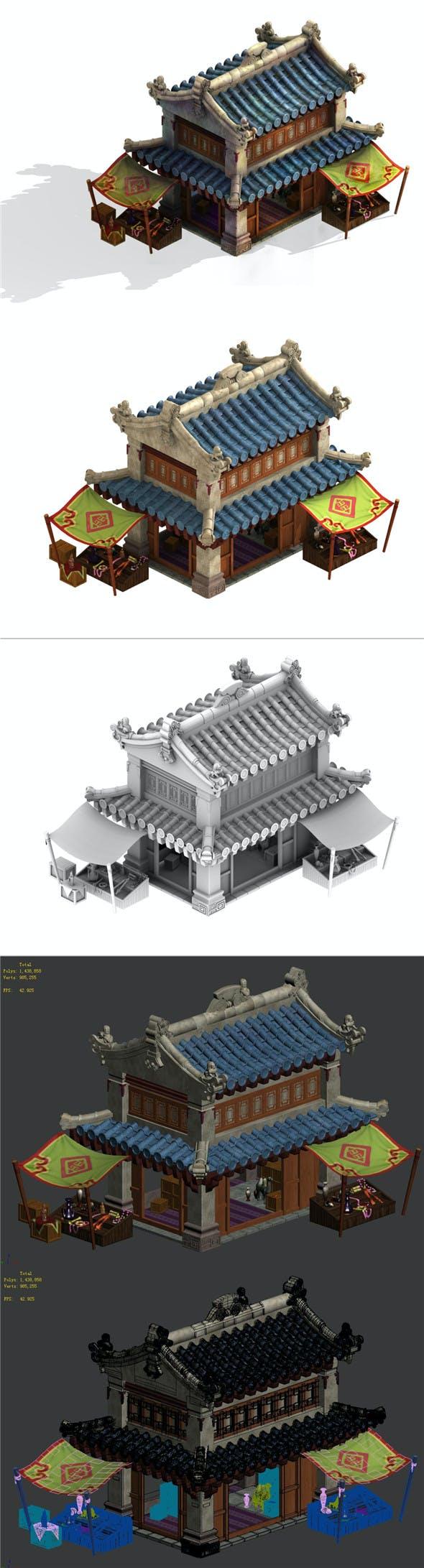 Cartoon - dwelling - 3DOcean Item for Sale