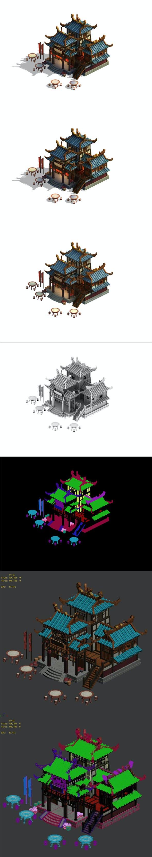 Cartoon - House 12 - 3DOcean Item for Sale