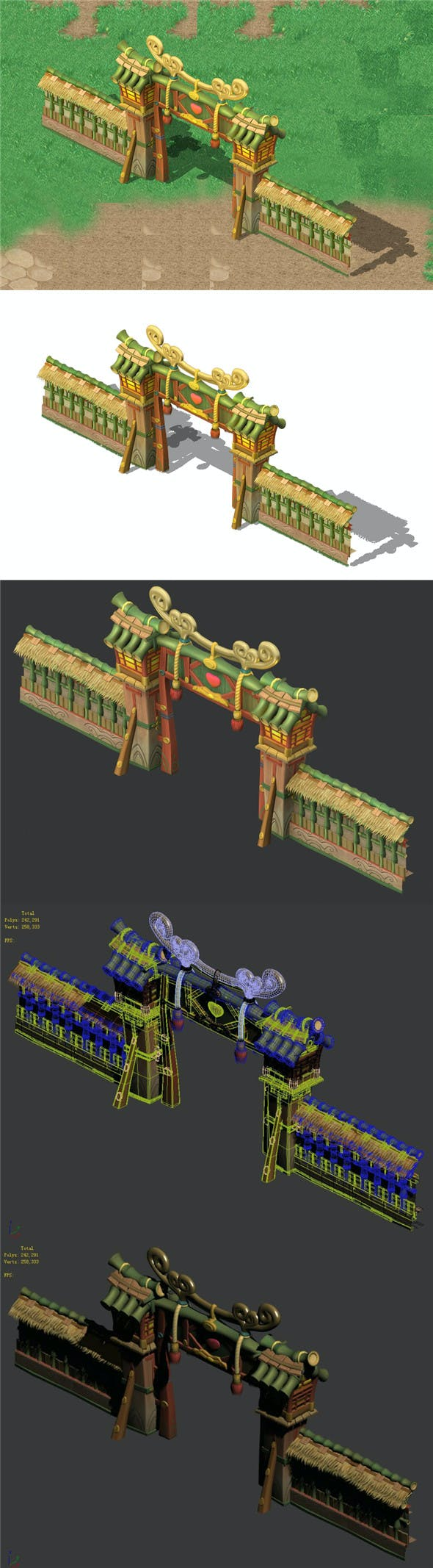 Cartoon World - City Wall - 3DOcean Item for Sale