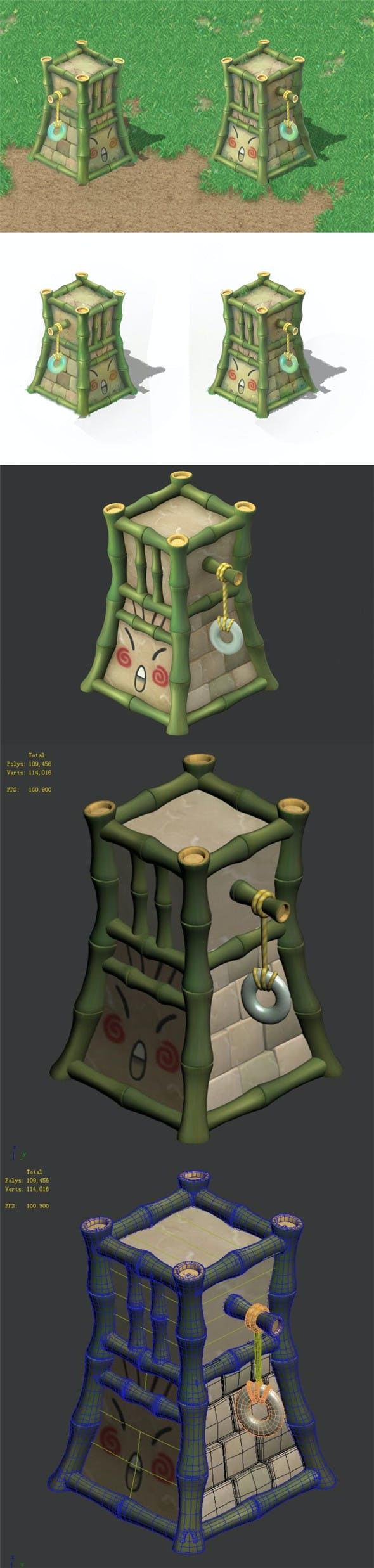 Cartoon world - crown jue column - 3DOcean Item for Sale