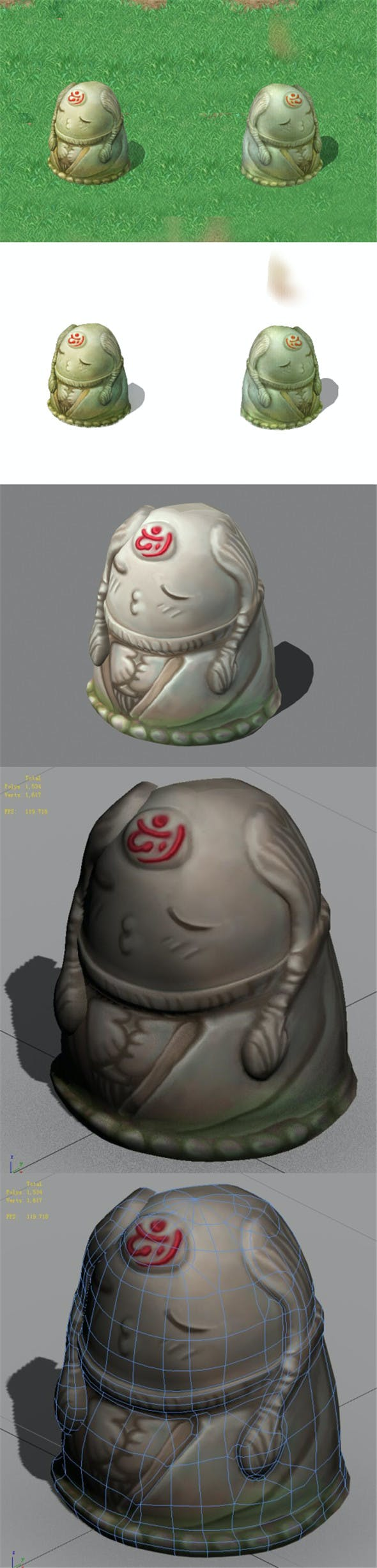 Cartoon World - Jixiang Chanting Boy 04 - 3DOcean Item for Sale