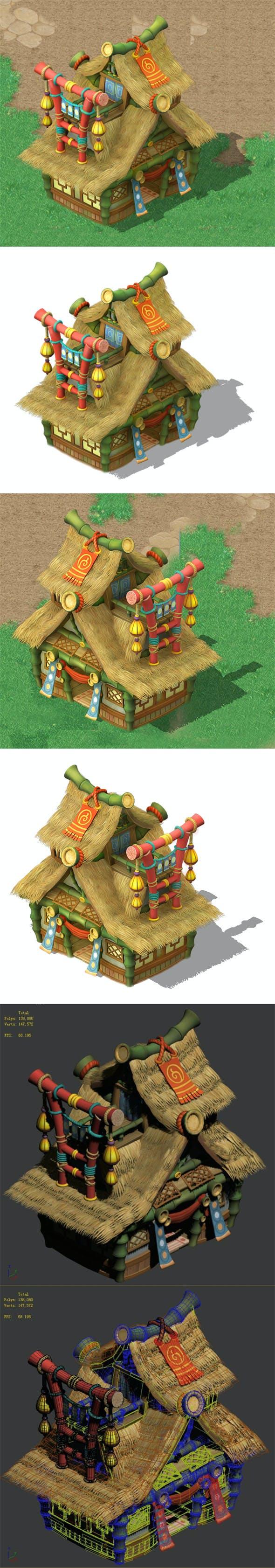 Cartoon World - House 04 - 3DOcean Item for Sale