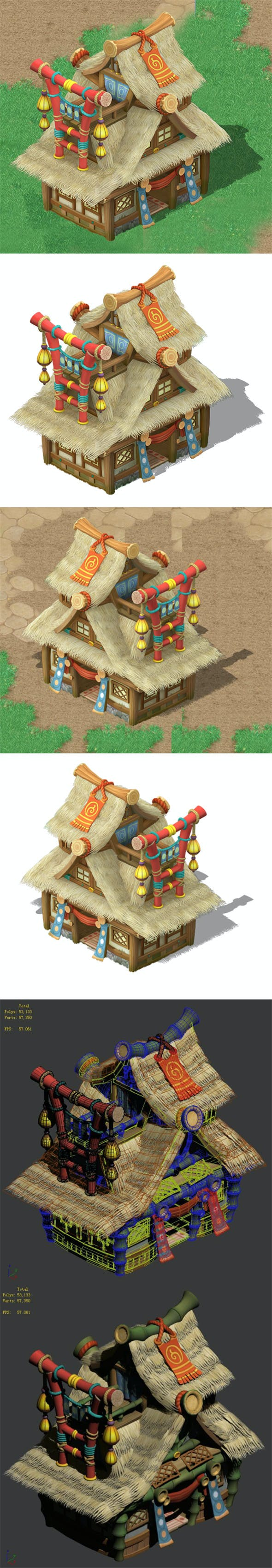 Cartoon World - House 0404 - 3DOcean Item for Sale