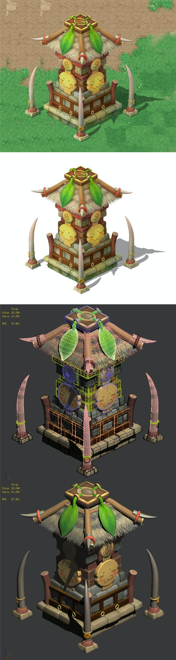 Cartoon World - Shaman Prophet God Tower 04 - 3DOcean Item for Sale