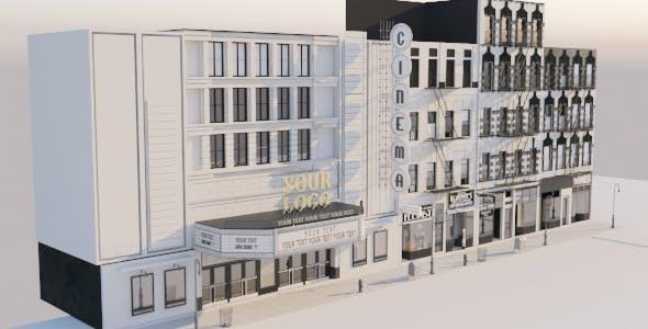 Detailed Vintage New York Street Block - 3DOcean Item for Sale