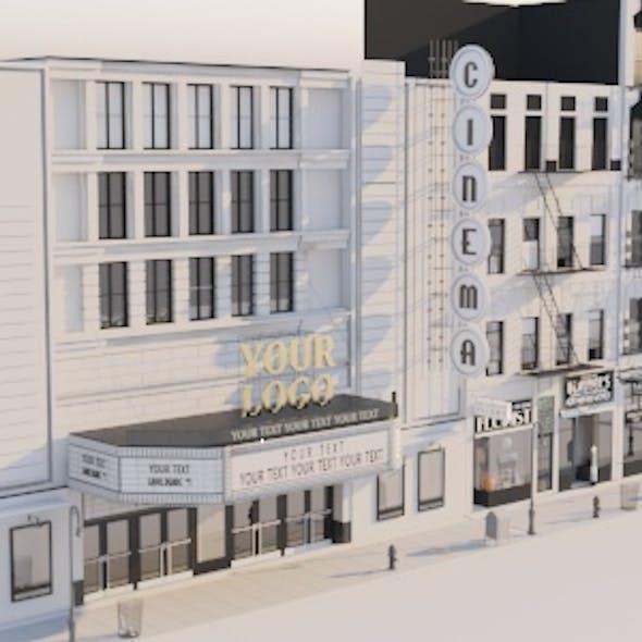 Detailed Vintage New York Street Block