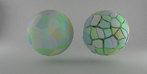 Fractured Sphere Element3D - 3DOcean Item for Sale