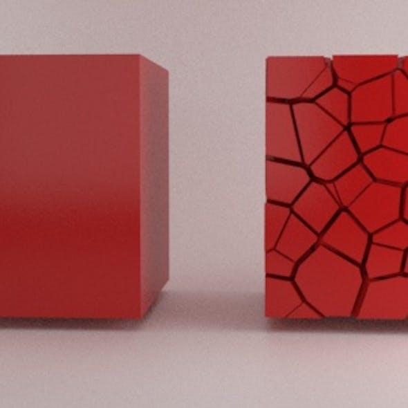 Fractured Cube Element3D