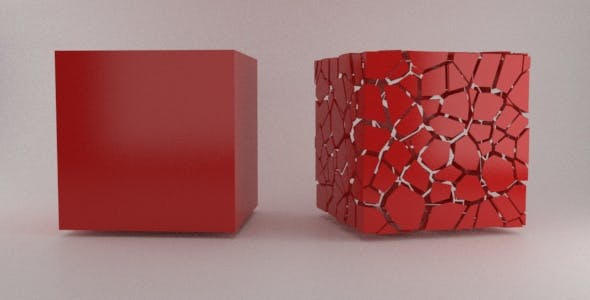 Hollow Fragmented Cube Element3D - 3DOcean Item for Sale