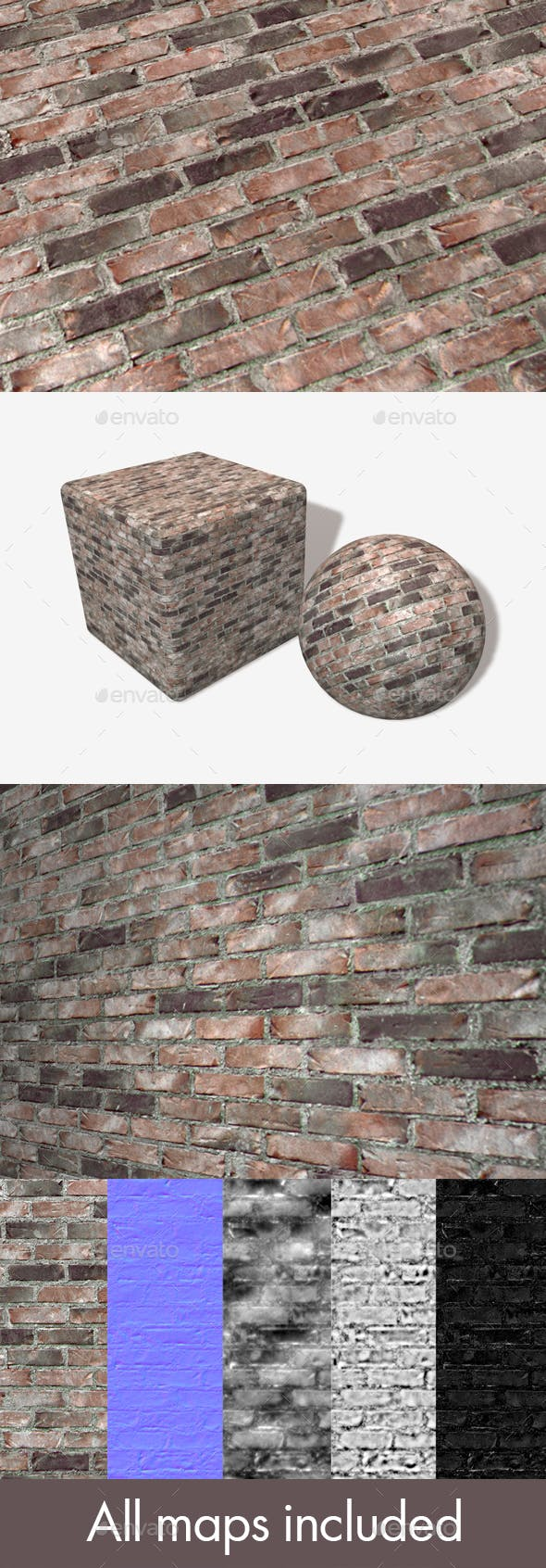 Recycled Bricks Seamless Texture - 3DOcean Item for Sale