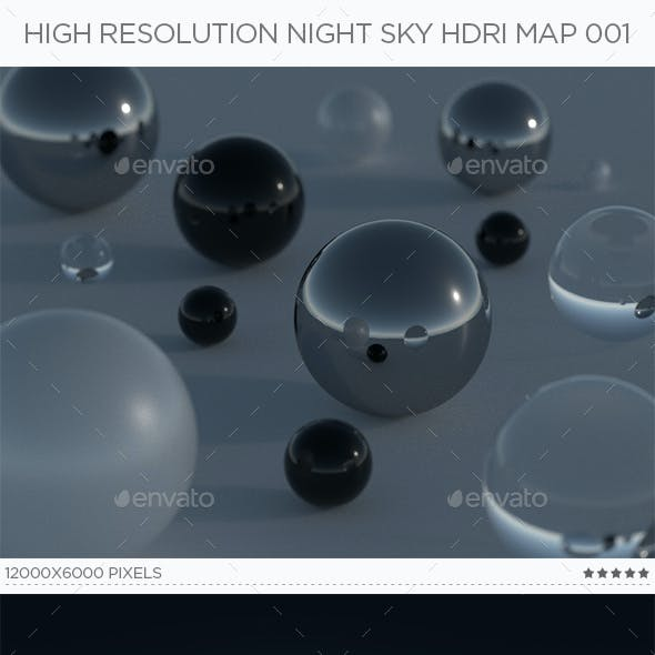 High Resolution Night Sky HDRi Map 001