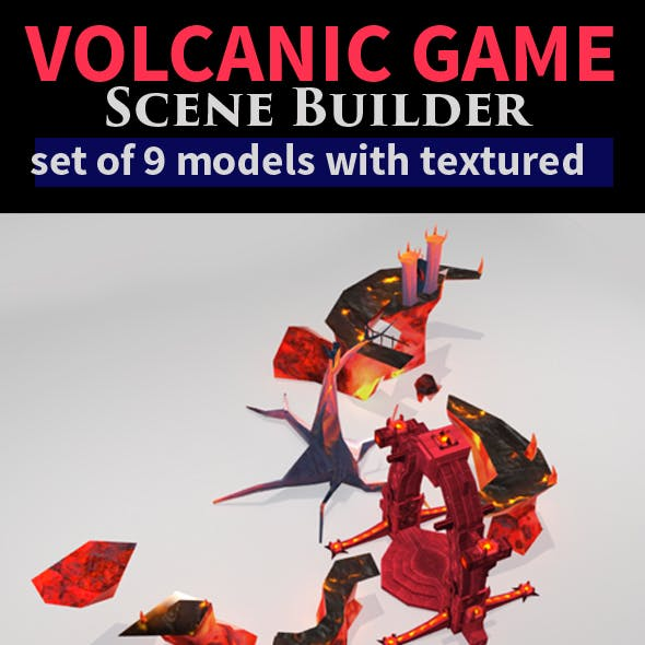 Game Scene Setup - Volcanic Theme