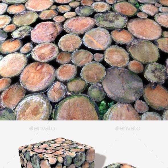 Chopped Tree Logs Seamless Texture