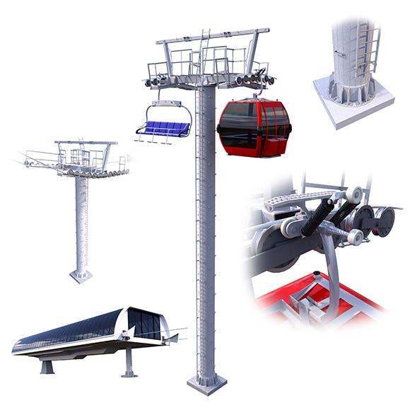 Ski Lift Cableway Car