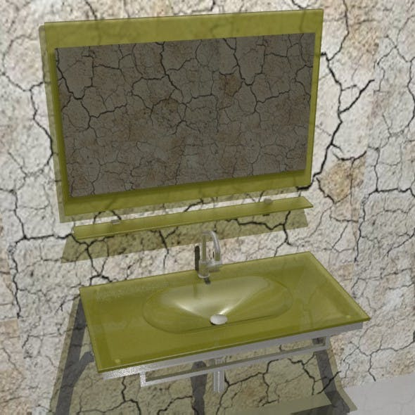 Bathroom glass sink - 3DOcean Item for Sale