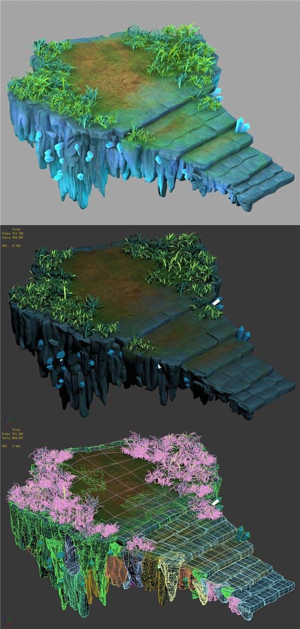 Cartoon Sky City - Fake Terrain 13 - 3DOcean Item for Sale