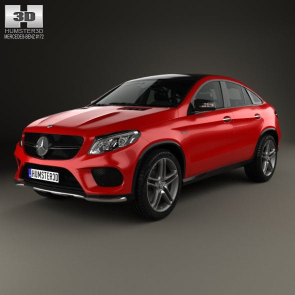 Mercedes-Benz GLE-Class AMG Line coupe 2014 - 3DOcean Item for Sale
