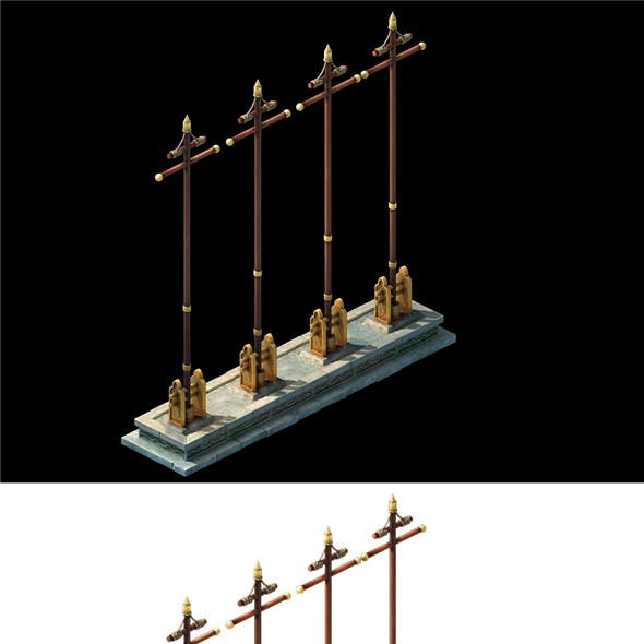 Game Model - Arena flagpole