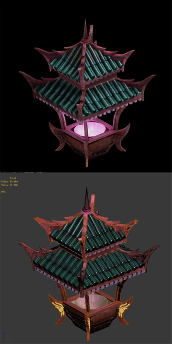 Game Model - Lianqi Cave 8 - 3DOcean Item for Sale