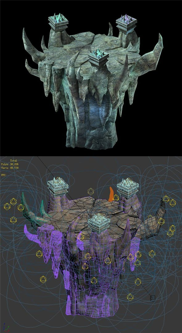 Game Model - Lianqi Cave 10 - 3DOcean Item for Sale