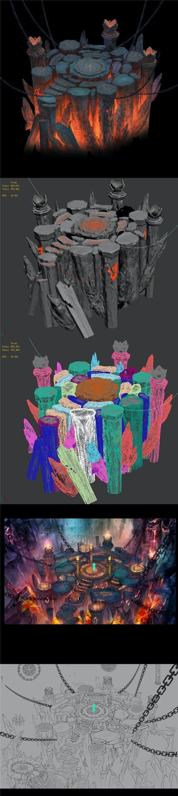 Magic territory - altar - 3DOcean Item for Sale