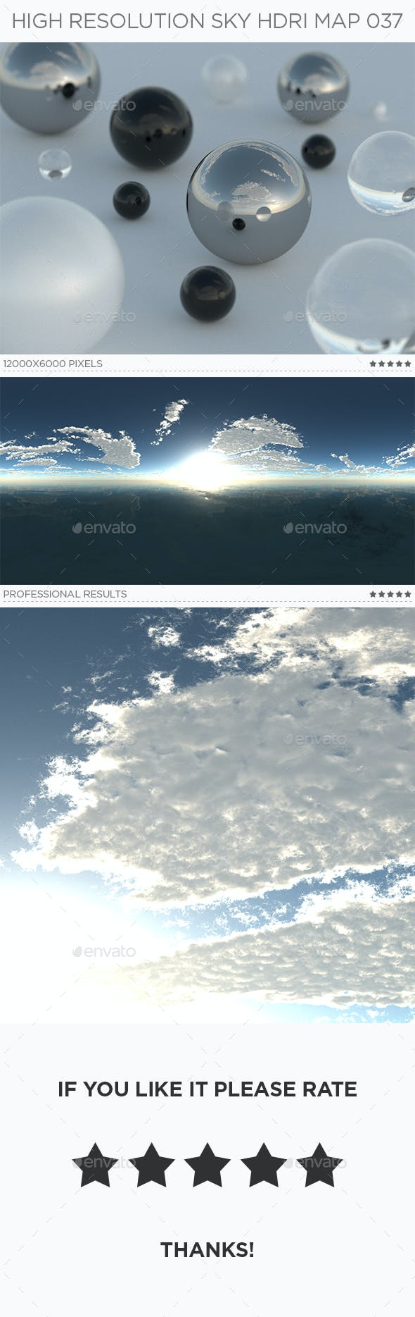 High Resolution Sky HDRi Map 037 - 3DOcean Item for Sale