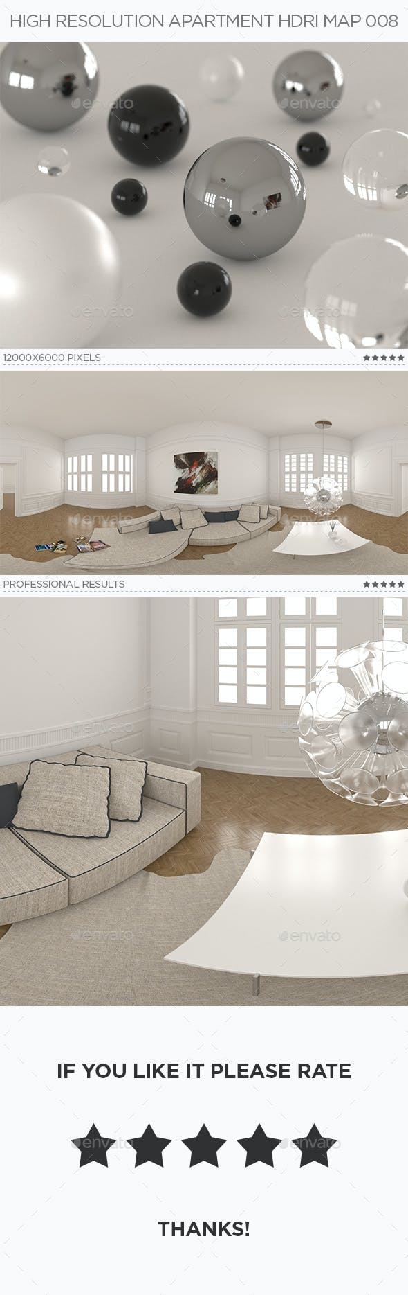 High Resolution Apartment HDRi Map 008 - 3DOcean Item for Sale