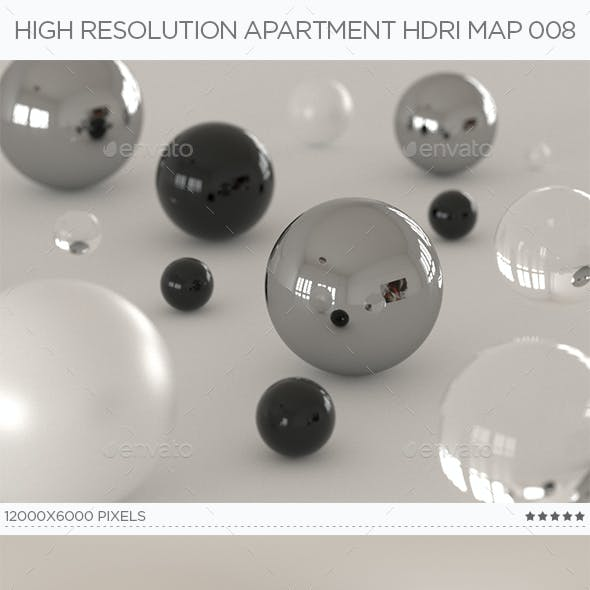 High Resolution Apartment HDRi Map 008
