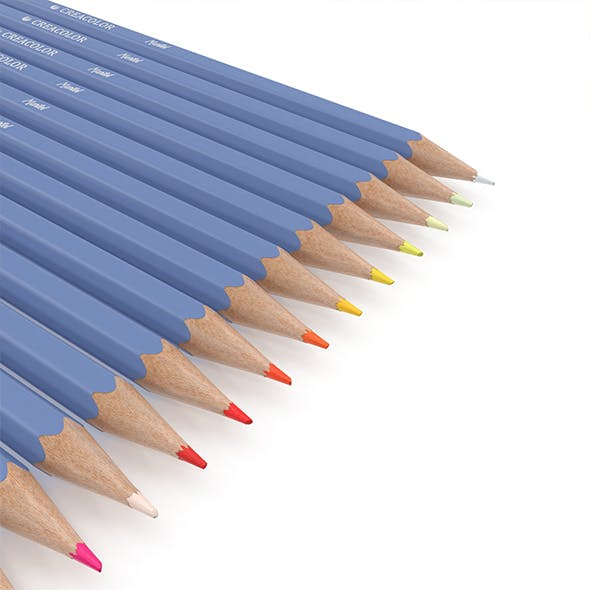 HD Color Pencil Pack - 3DOcean Item for Sale