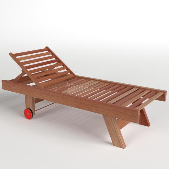Wooden Sun Lounger 1