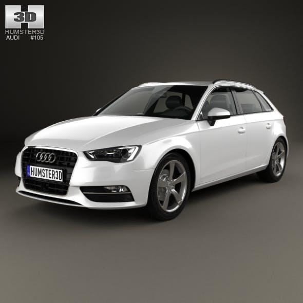 Audi A3 Sportback 2013 - 3DOcean Item for Sale