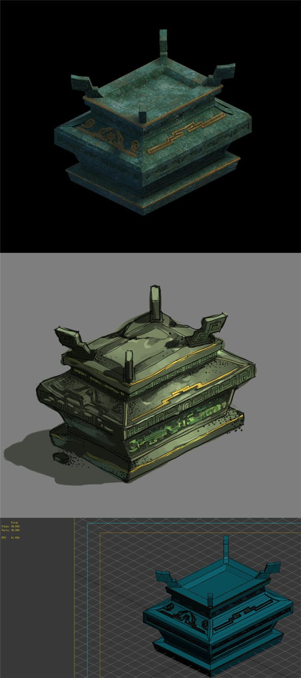 Game Model - Bronze Box - 3DOcean Item for Sale