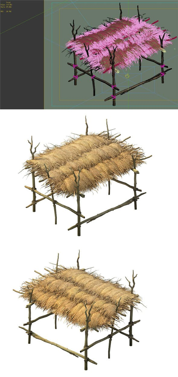 Desert - hut - 3DOcean Item for Sale