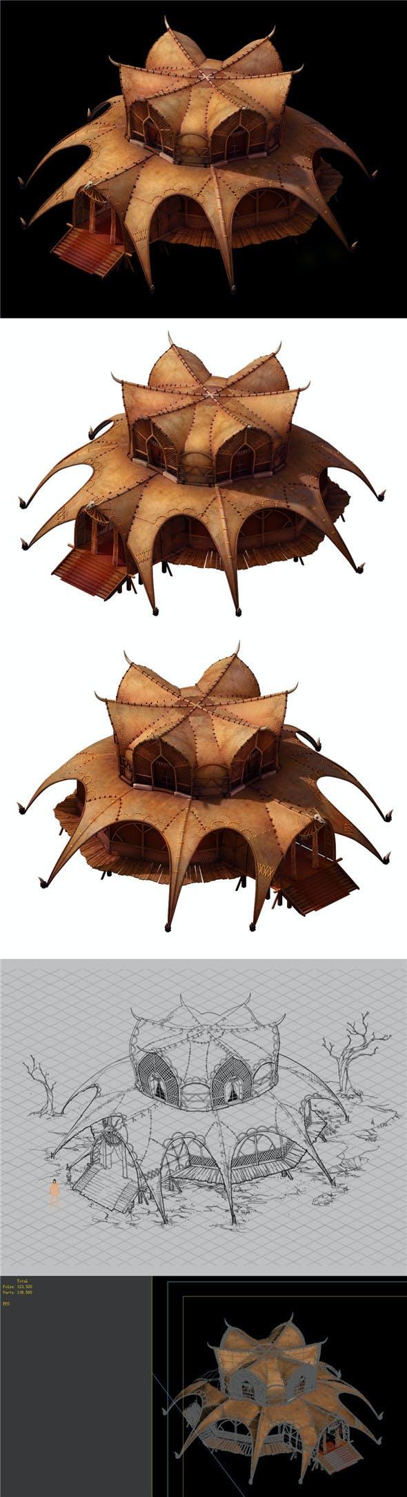 Desert Gobi - Golden Tent Palace 01 - 3DOcean Item for Sale