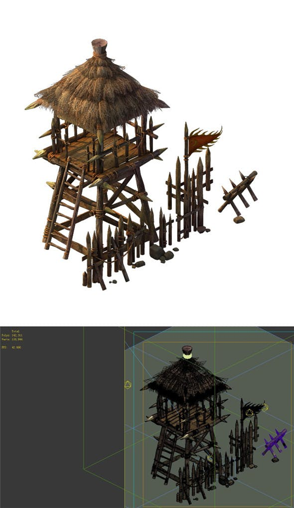 Desert Gobi - Outpost 05 - 3DOcean Item for Sale