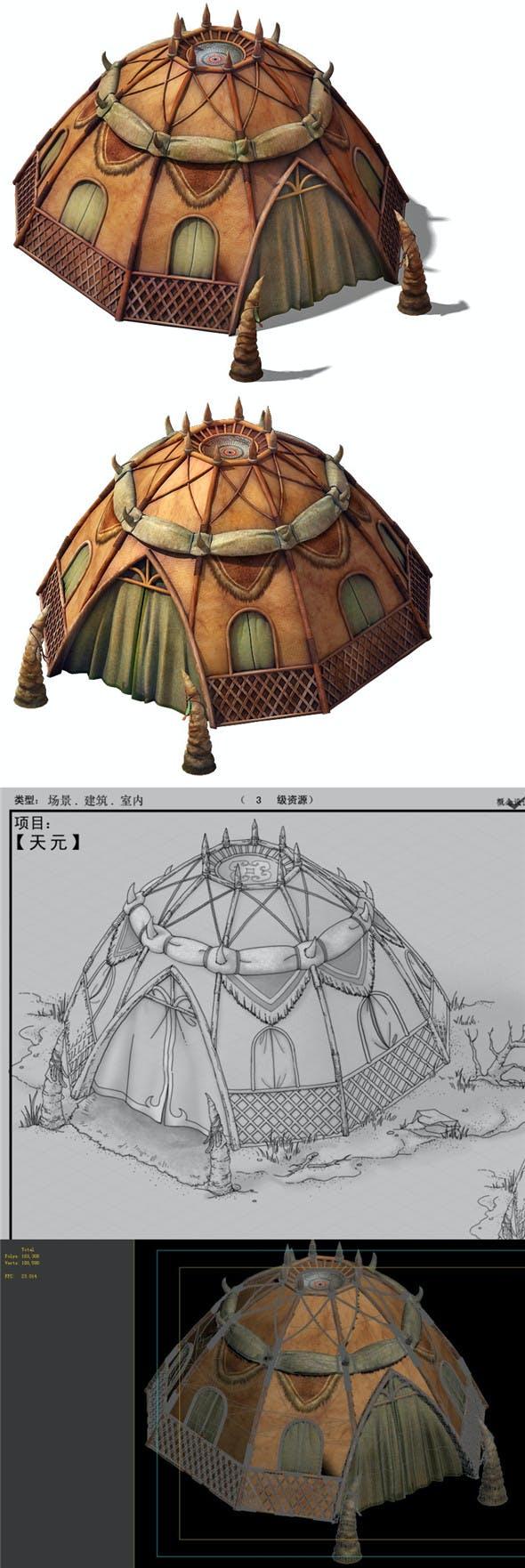 Desert Gobi - Dome Tents 01 - 3DOcean Item for Sale