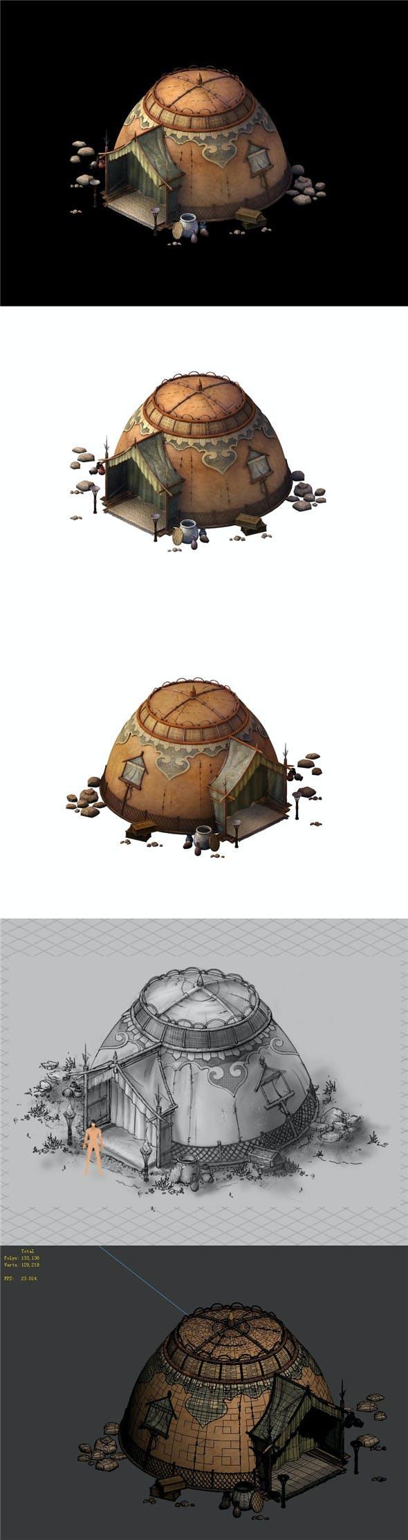 Desert Gobi - Dome Tent 02 - 3DOcean Item for Sale