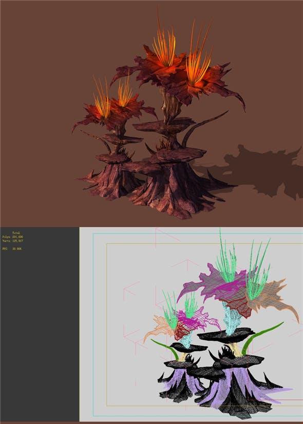 Game Models - Plants in the Desert - 3DOcean Item for Sale
