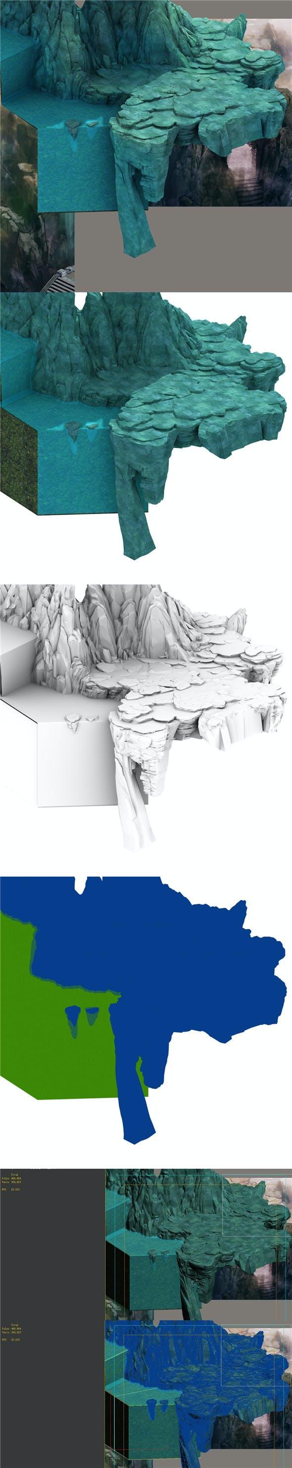 Mountain - Terrain 01 - 3DOcean Item for Sale