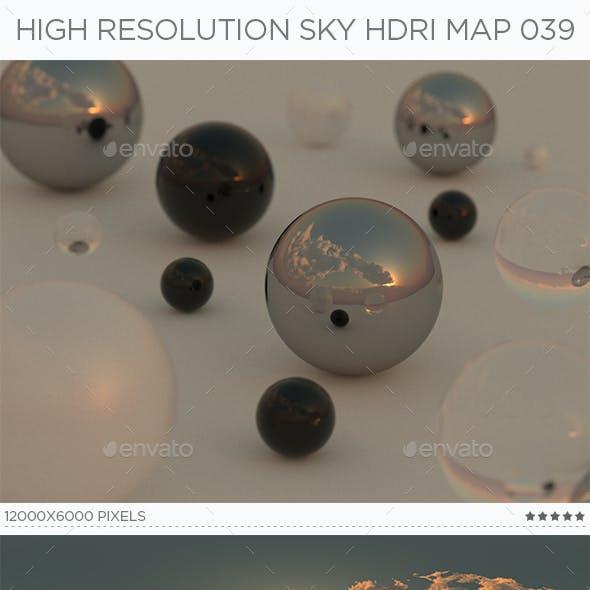 High Resolution Sky HDRi Map 039