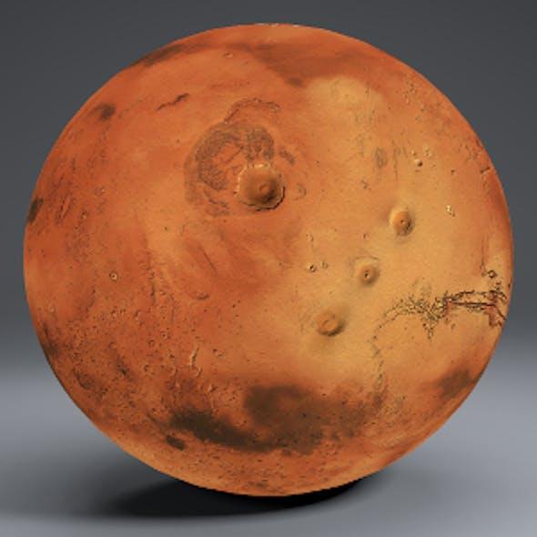 Mars 8k Globe