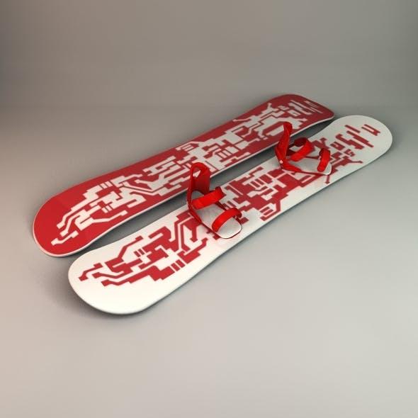Snowboard & Bindings - 3DOcean Item for Sale