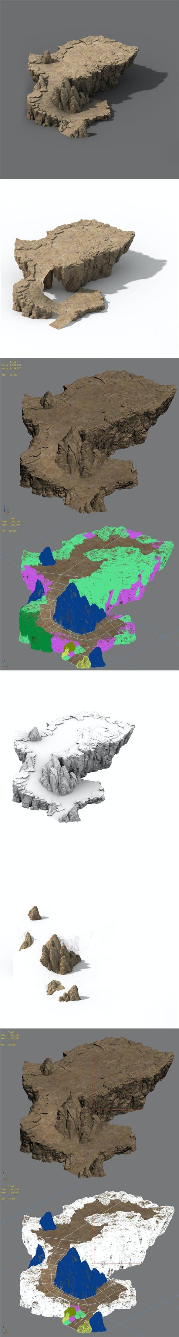 Mountain - Terrain 12 - 3DOcean Item for Sale