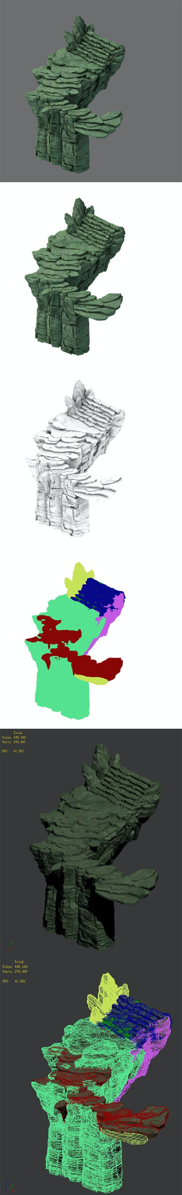 Mountain - terrain stone staircase 02 - 3DOcean Item for Sale