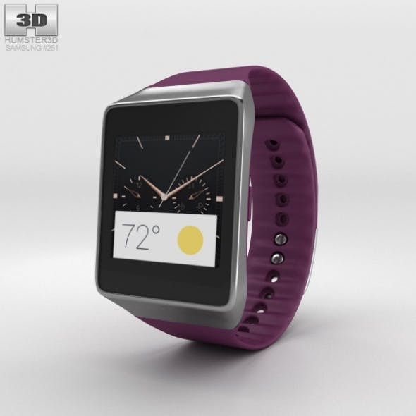 Samsung Gear Live Wine Red - 3DOcean Item for Sale