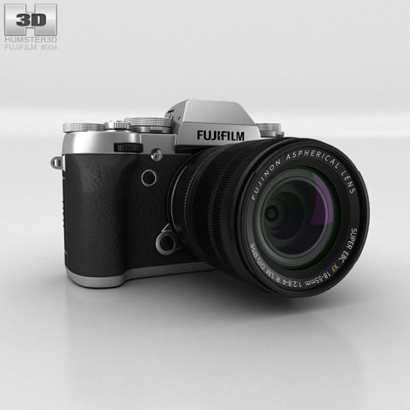 Fujifilm X-T1 Silver - 3DOcean Item for Sale