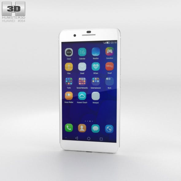 Huawei Honor 6 Plus White - 3DOcean Item for Sale